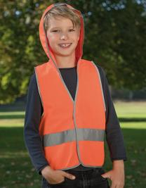 Kids` Hooded Safety Vest EN 1150